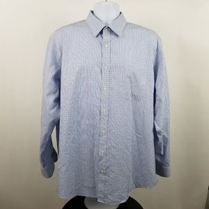 Nordstrom Traditional Fit Wrinkle Free Blue Check